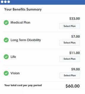 View Benefit Costs Per Pay